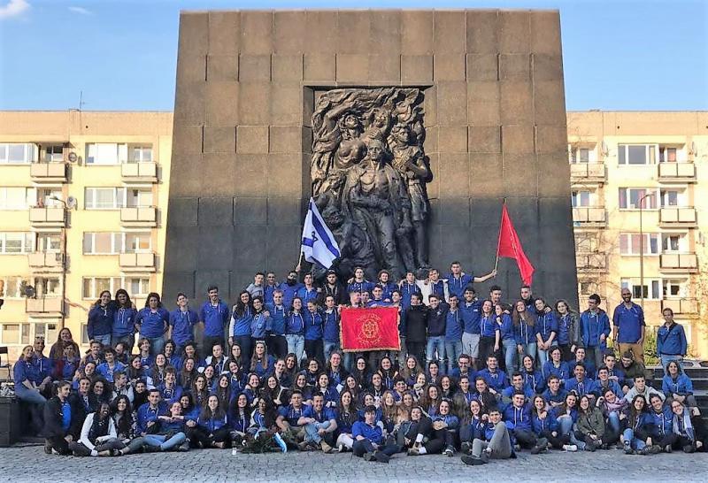 קבוצת ניצן במשלחת של השומר הצעיר במסע לפולין 4/2019