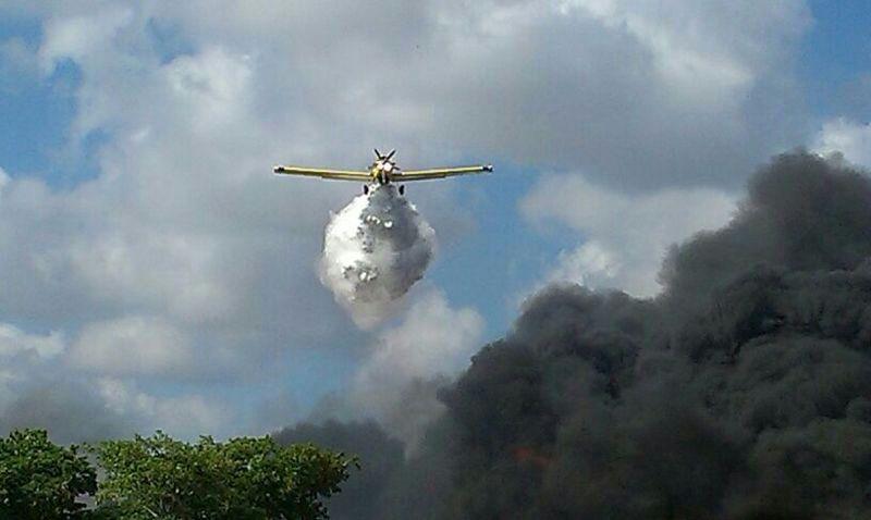 תמונות מהשריפה במפעל פלטיק בקיסריה